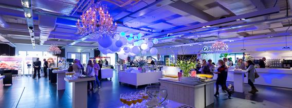 spant personeelsfeest organiseren blauw