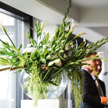 verkiezing campagne bloemen decoratie